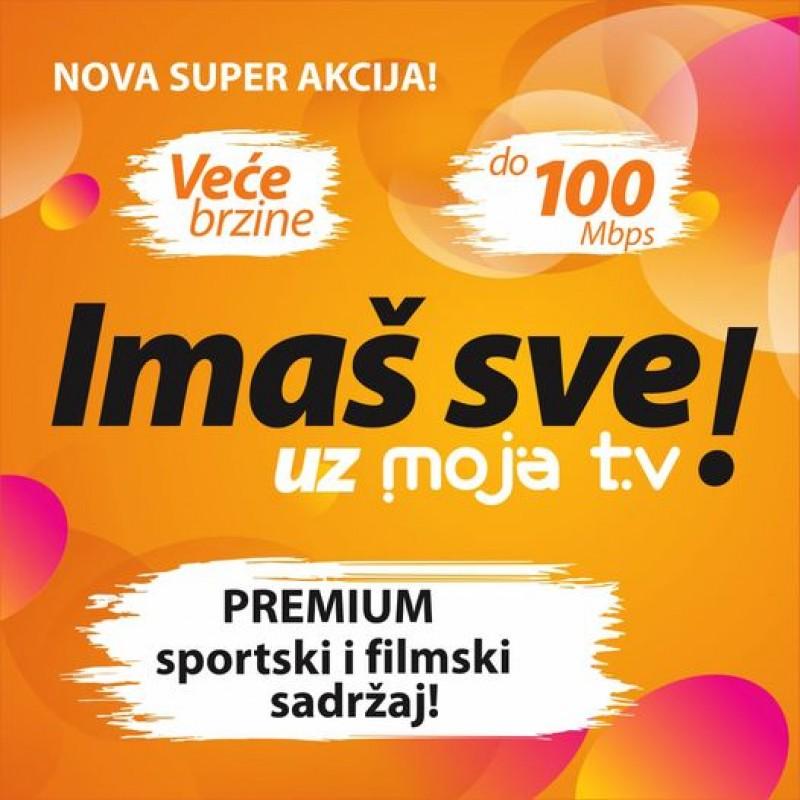 """Super akcija """"Imaš sve uz MojaTV!"""""""