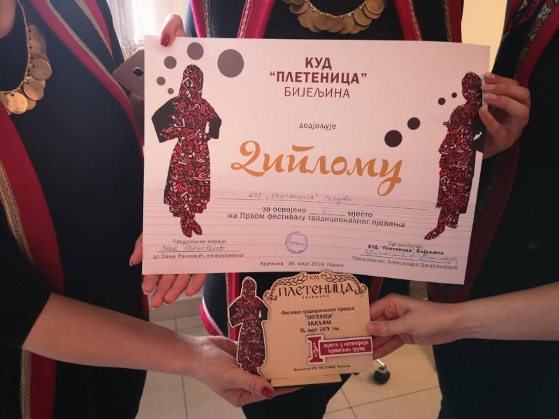 Vokalni ansambl DUNJE osvojile I. mjesto u Bijeljini