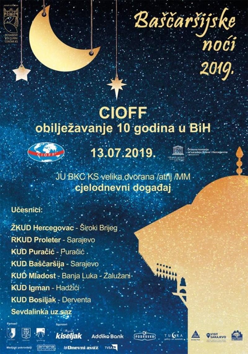 Svečani koncert povodom 10 godina CIOFF BiH