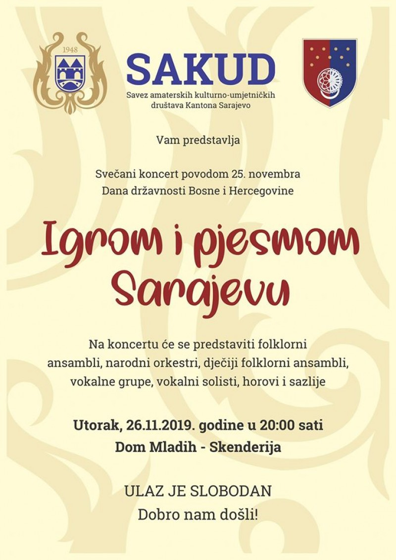 """Gala Concert """"Dances and songs for Sarajevo"""""""